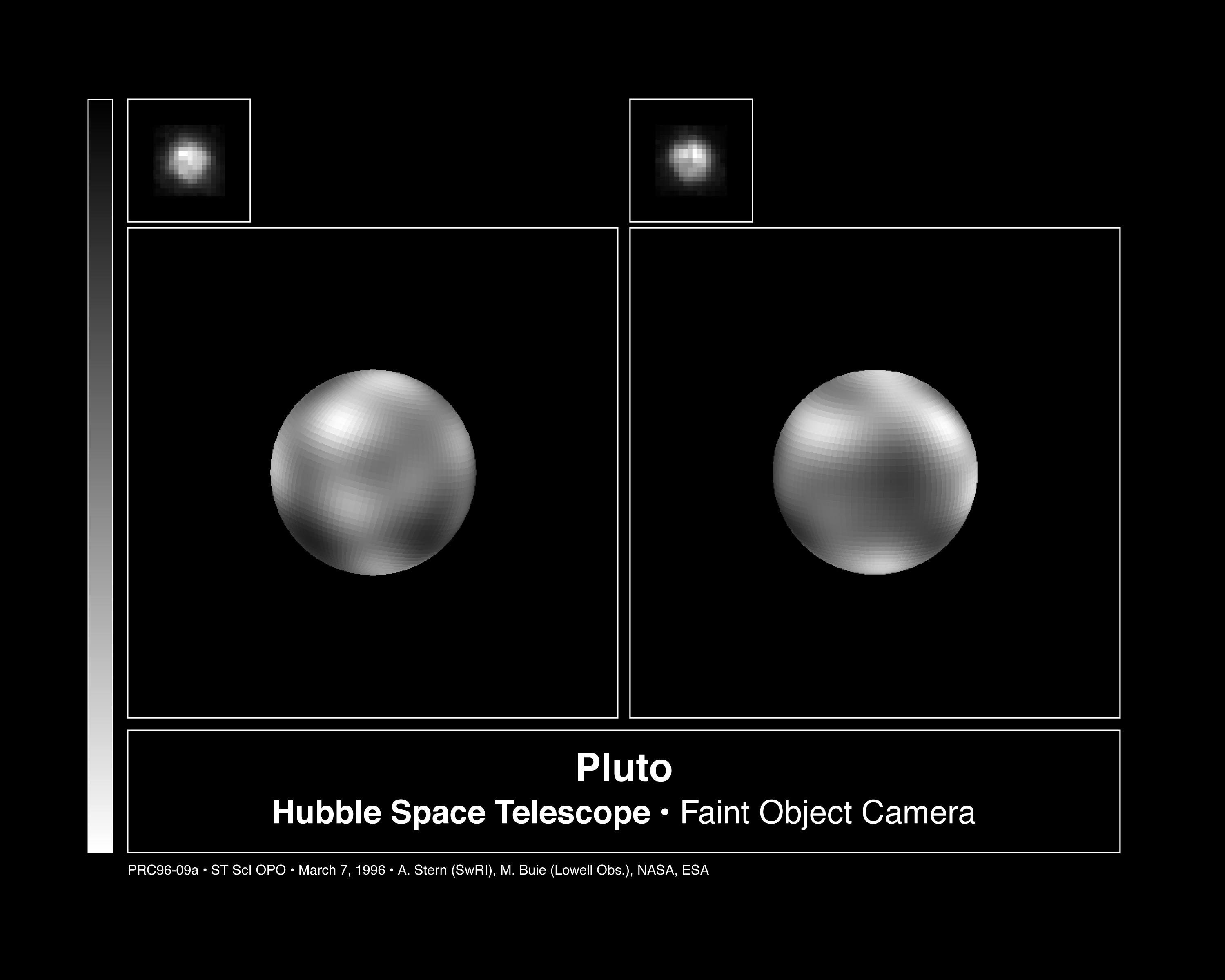 Hubble Telescope photos of Pluto