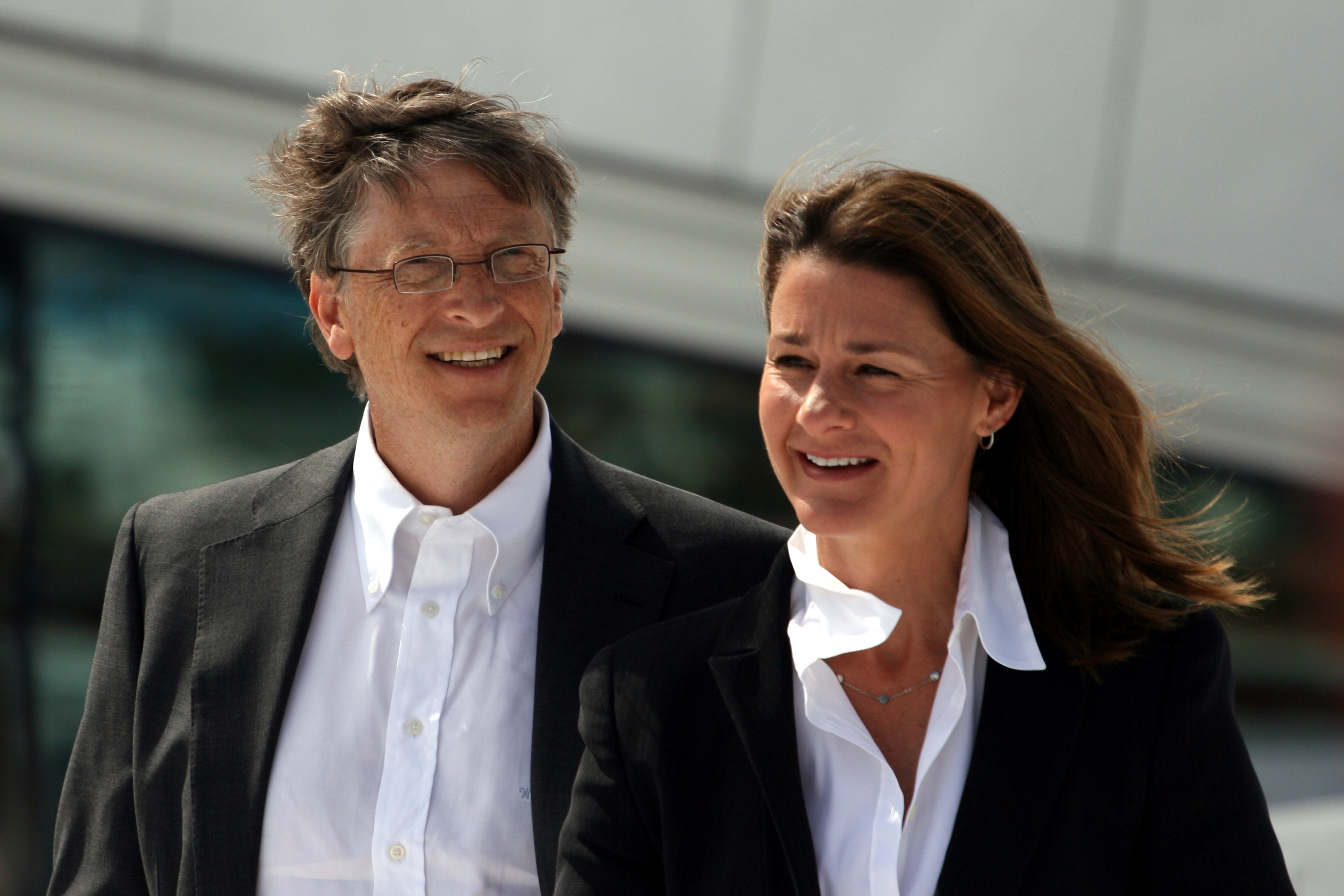 Bill and Melinda Gates (French)
